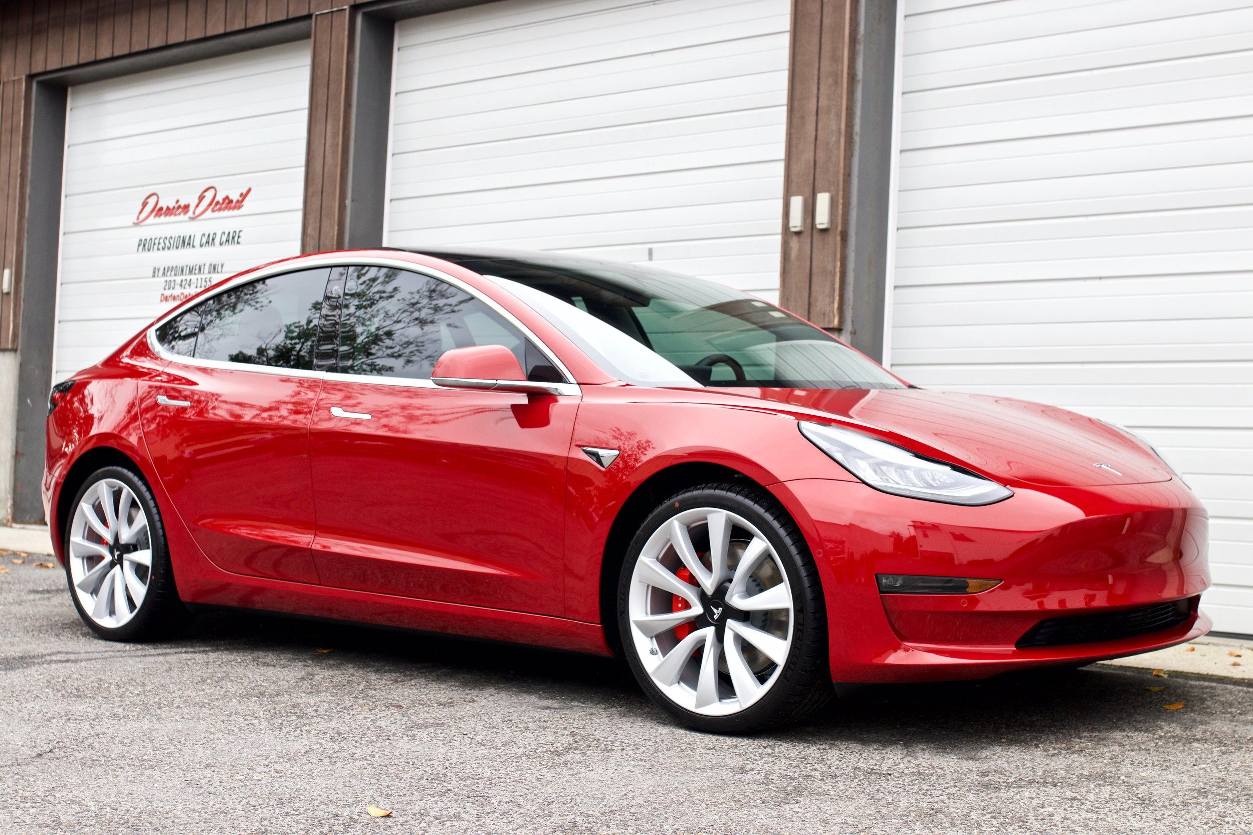 Tesla Model 3 Performance - Paint Protection Film - New Car Detail - CQuartz Finest Reserve