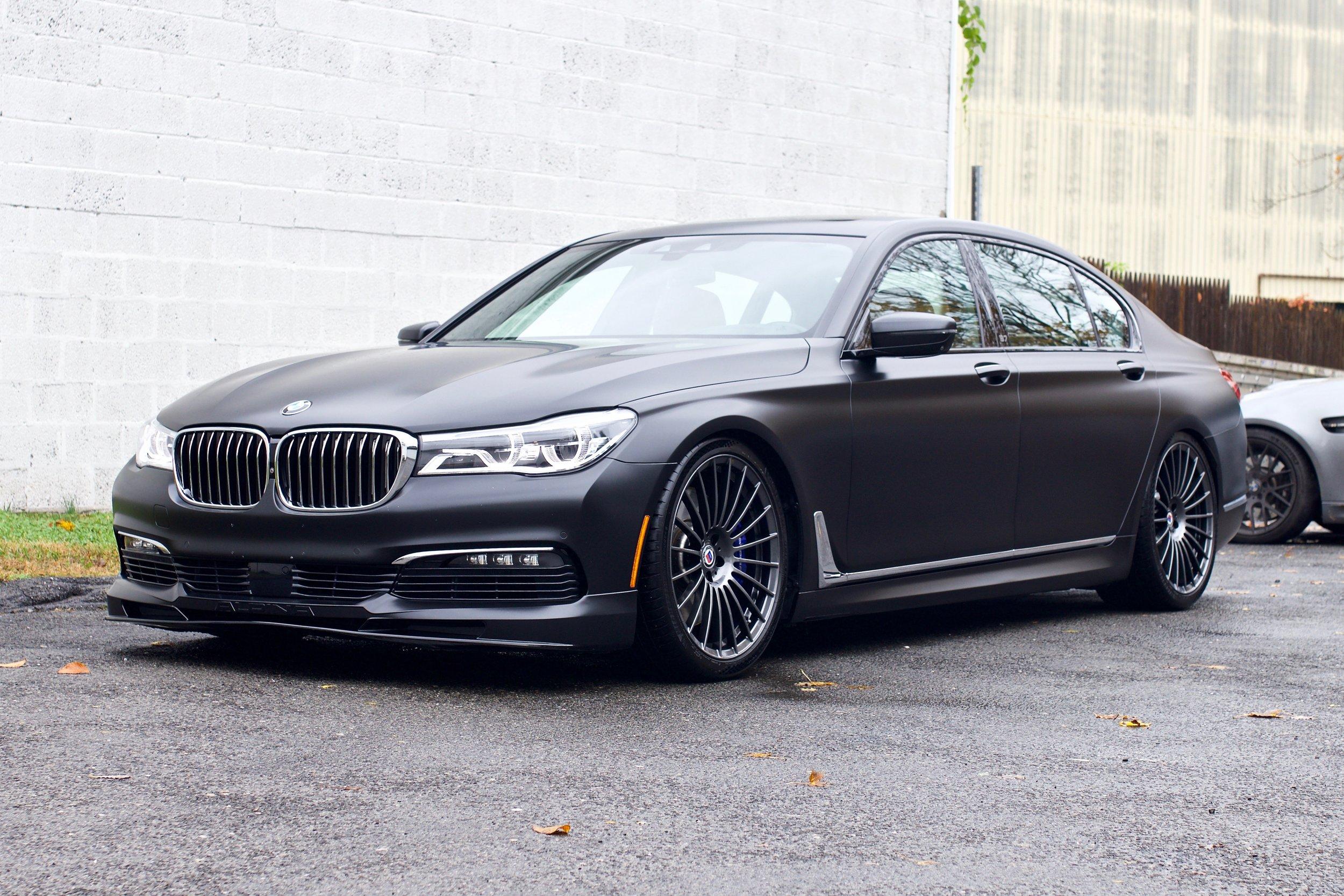 BMW B7 Alpina - Xpel Stealth Paint Protection Film - New Car Detail - Wheels Powdercoated - CQuartz Finest Reserve