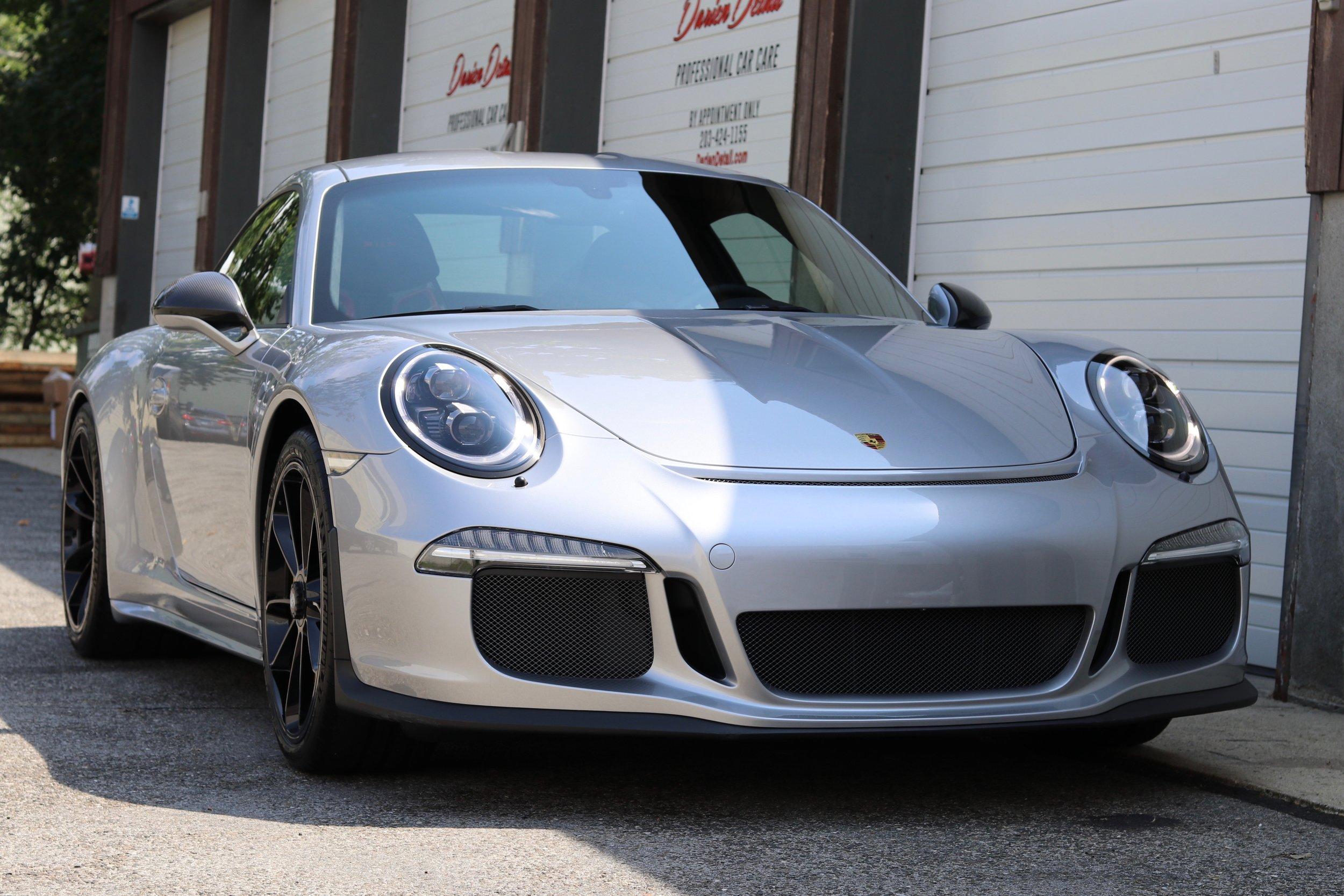 Silver Porsche 911 R - Paint Correction - Paint Protection Film - CQuartz Finest Reserve