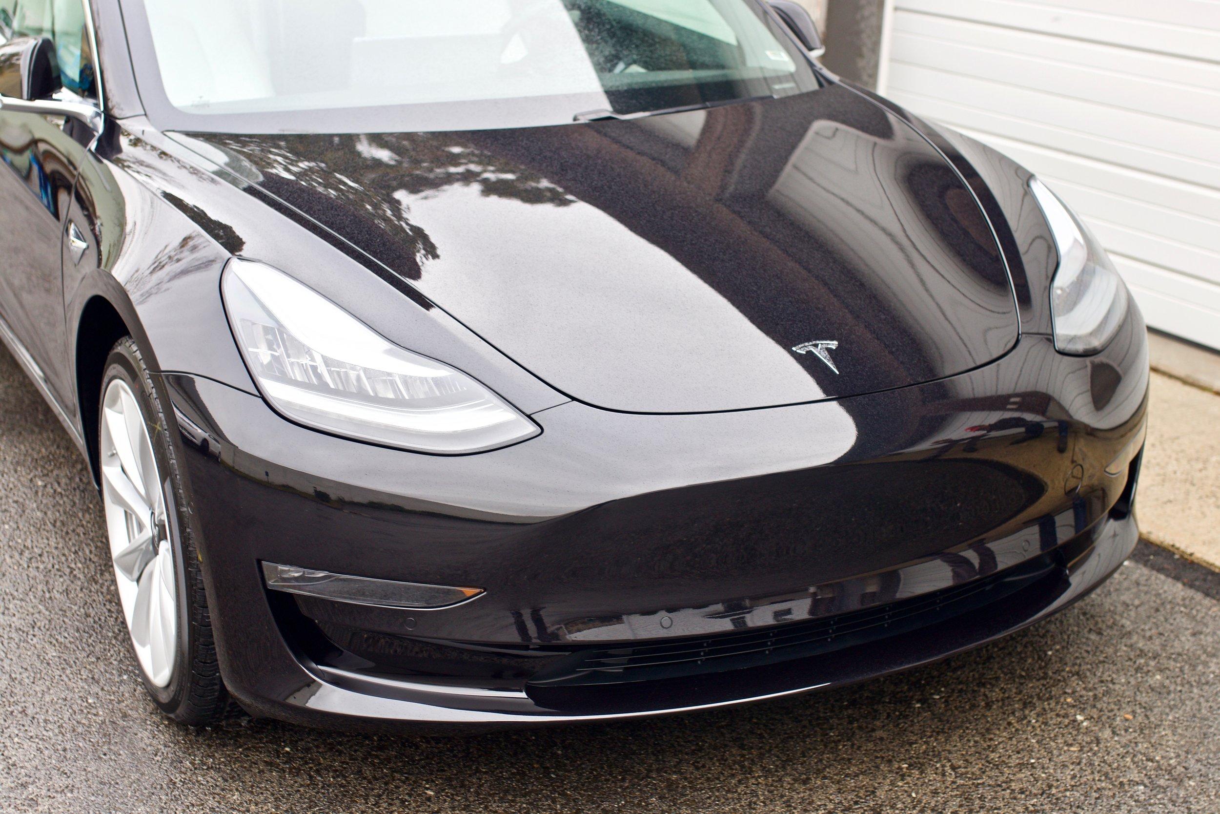 Black Tesla Model 3 - Paint Correction - Paint Protection Film - CQuartz Finest Reserve