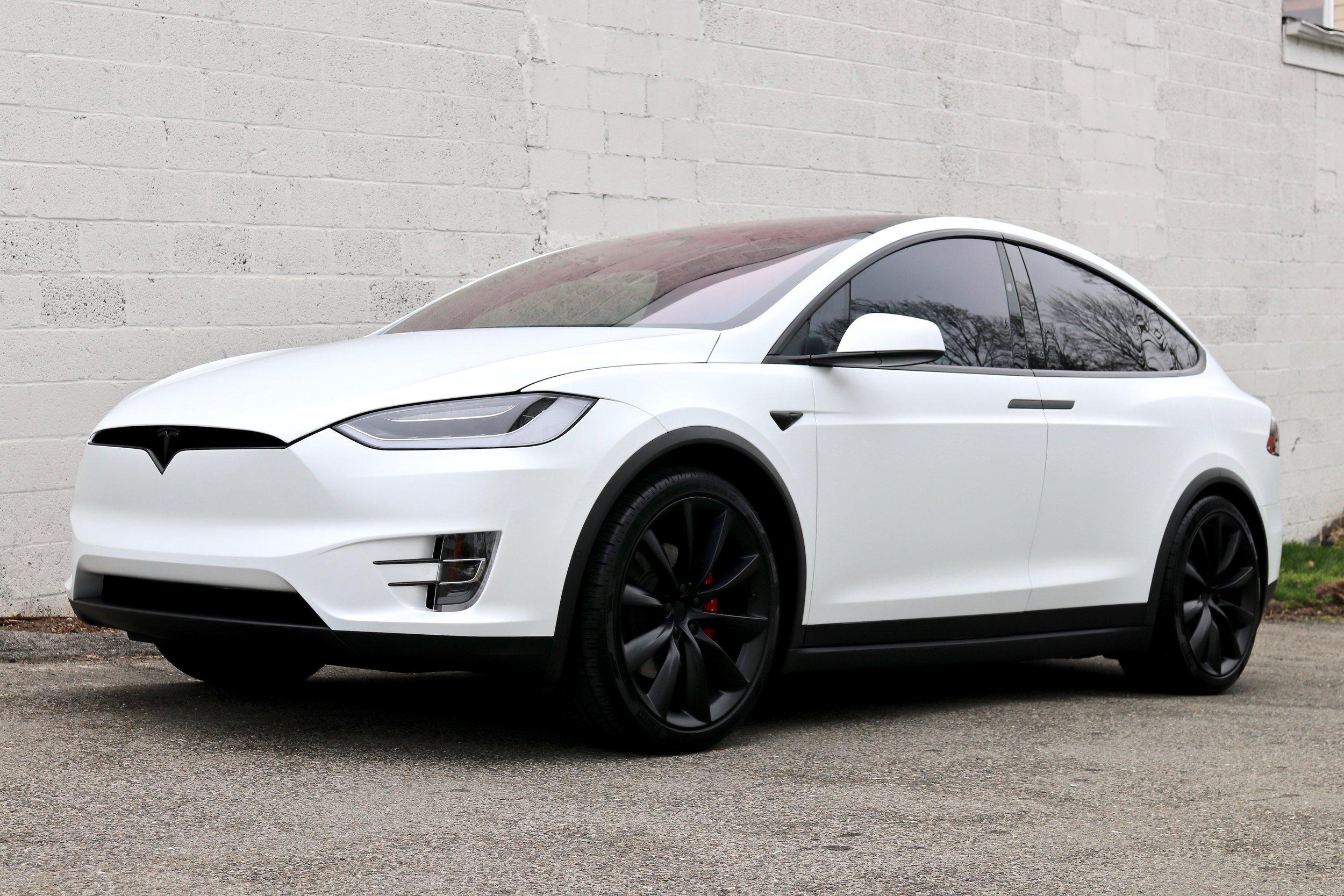 Tesla Model X Full Body Wrap In Xpel Stealth Ppf And Cquartz Professional Darien Detail