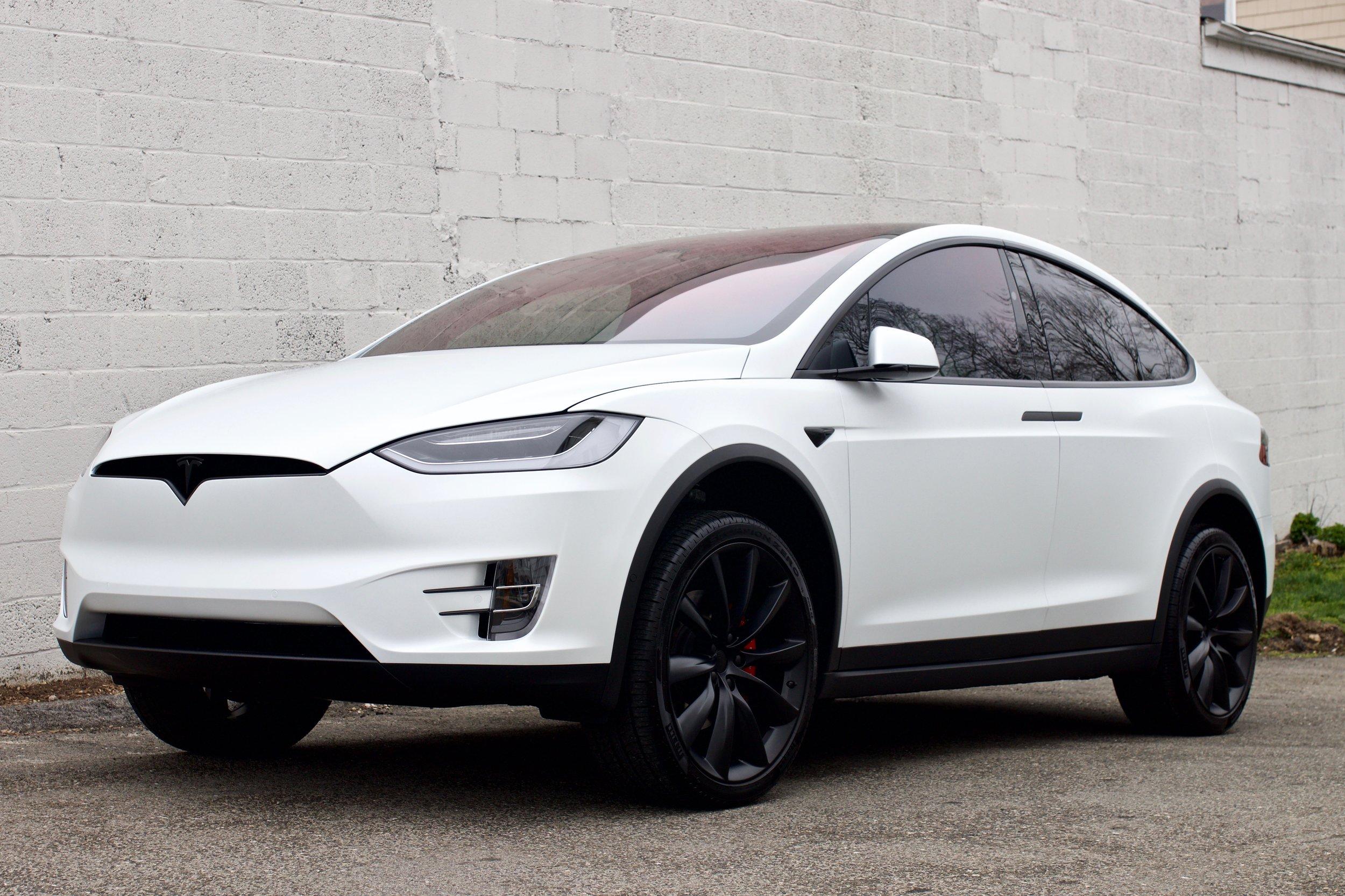 Tesla Model X - Xpel Stealth Paint Protection Film - Chrome Delete - CQuartz Professional - Window Tint