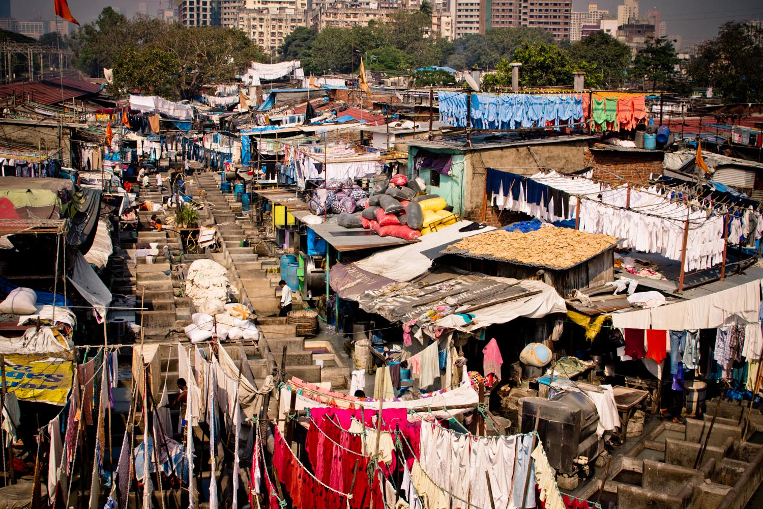 Dhobi Ghat - open air laundry