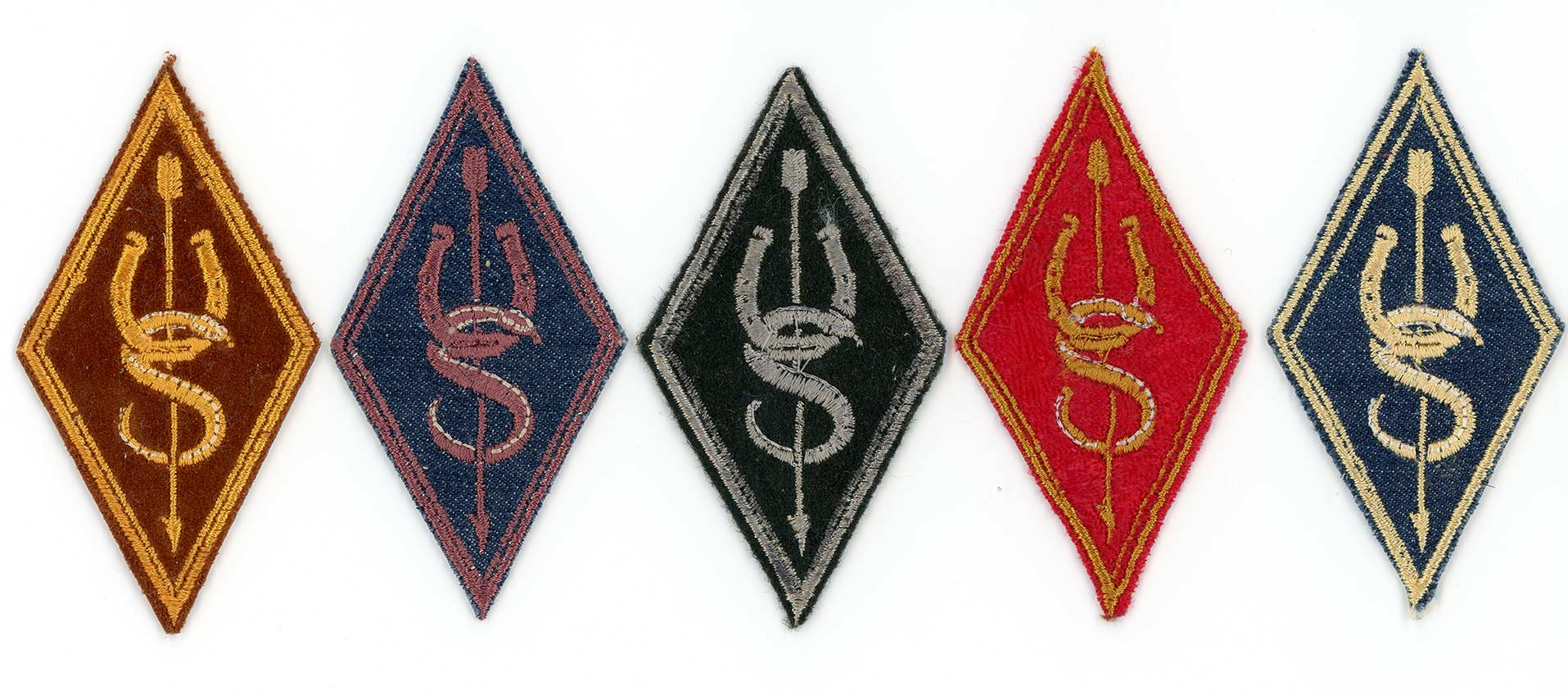 A series of patches for Underwood Stables members