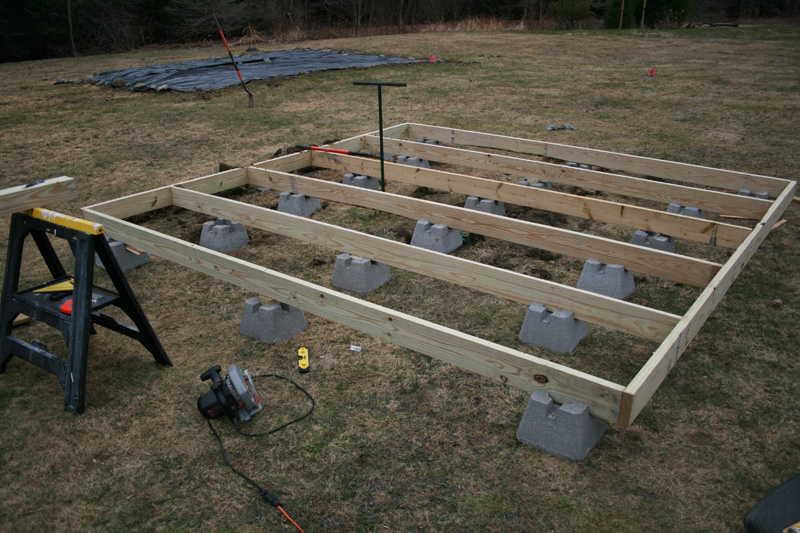 Building the floating deck