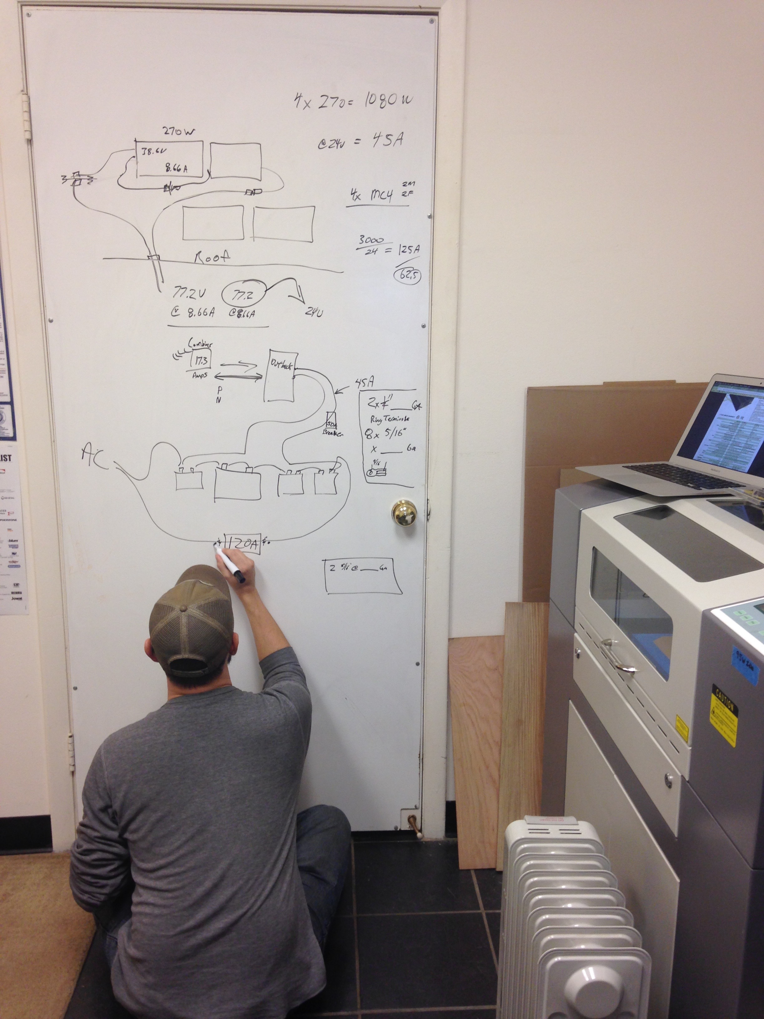 Mapping out the circuitry to plan wire and connector orders.