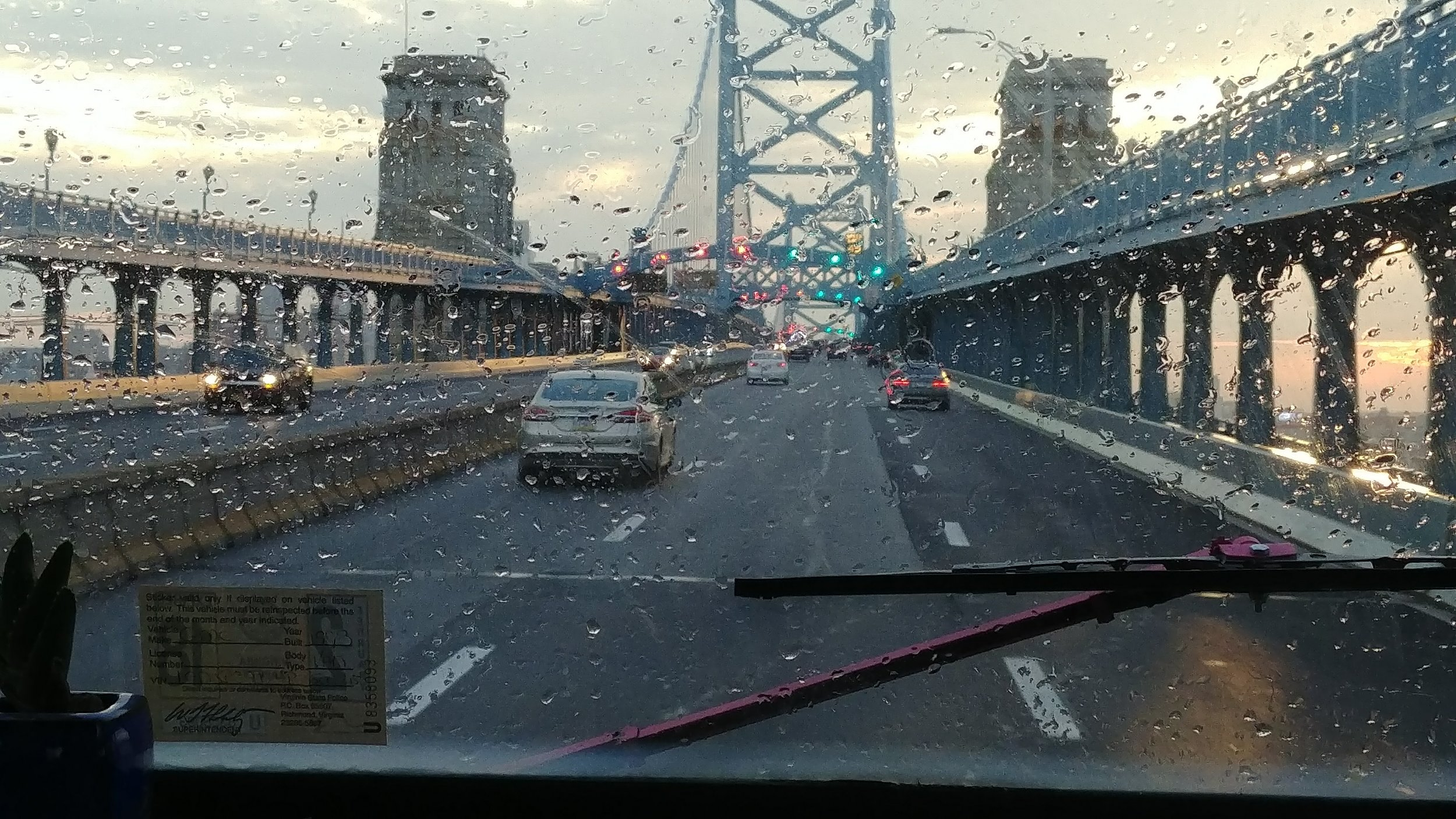 A wet arrival in Philly