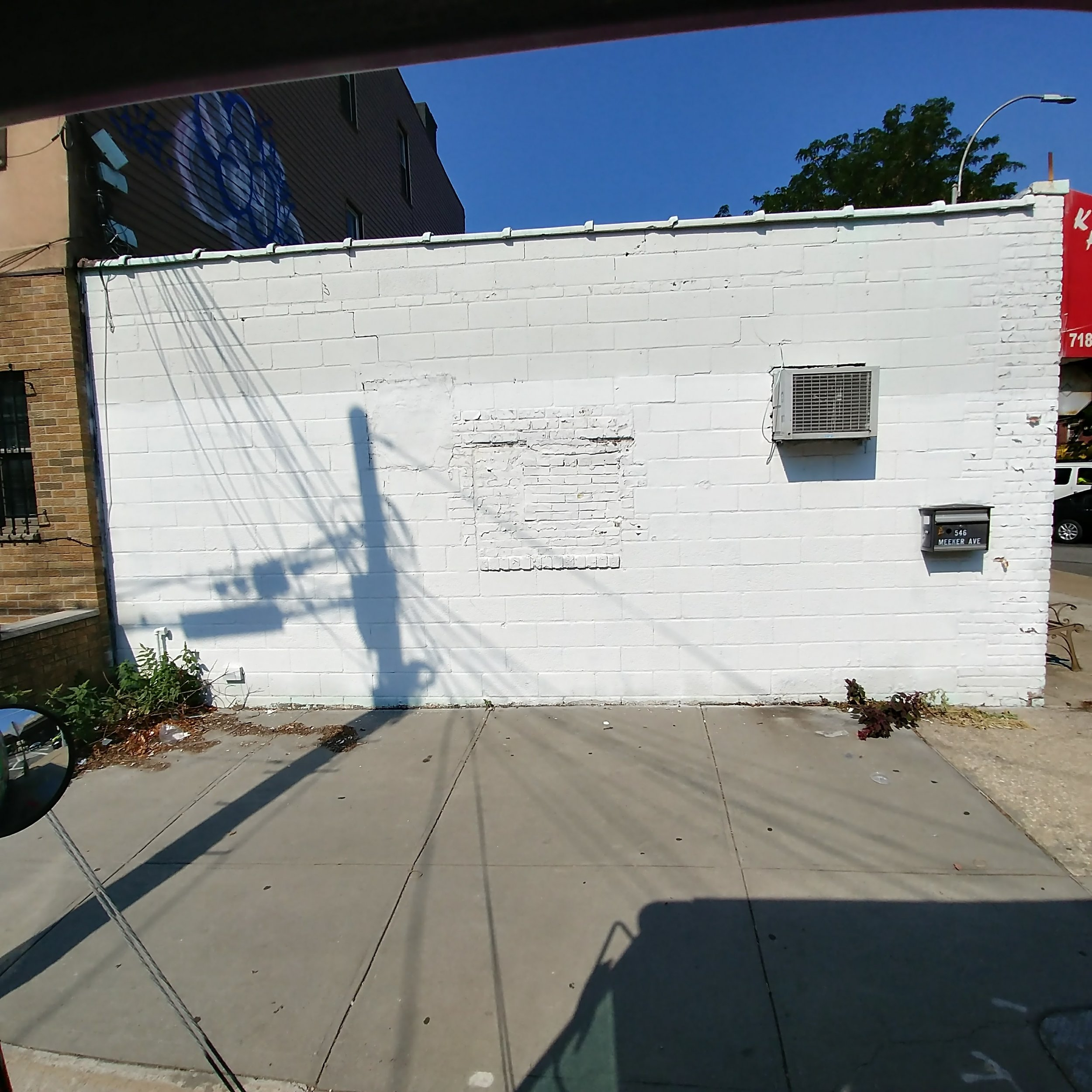 Not only that, but the owner of the Karate studio has another wall available...!
