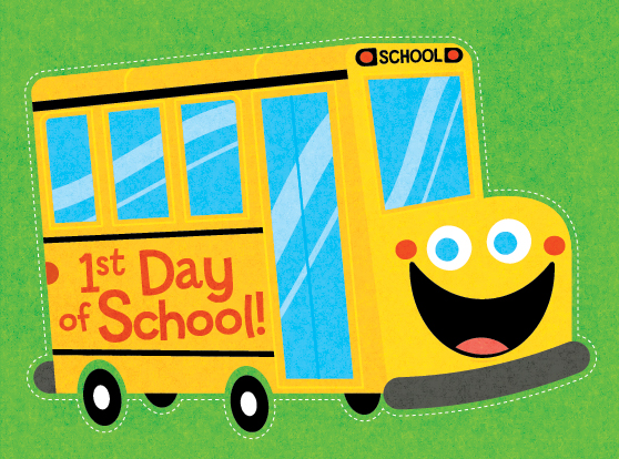 Title: Back To School Bus Illustrator: Steve Mack  All inquiries for images can be sent to:   Steve Mack  Illustrator  steve@stevemack.com    Lori Nowicki   Painted Words Licensing Agent  lori@painted-words.com