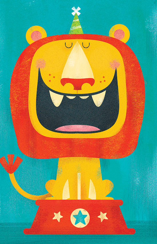 Title: Happy Birthday Lion Illustrator: Steve Mack  All inquiries for images can be sent to:  Steve Mack Illustrator  steve@stevemack.com   Lori Nowicki  Painted Words Licensing Agent   lori@painted-words.com
