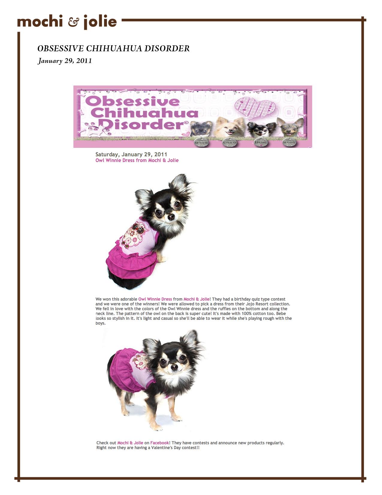 Obsessive Chihuahua Disorder (January 29, 2011)