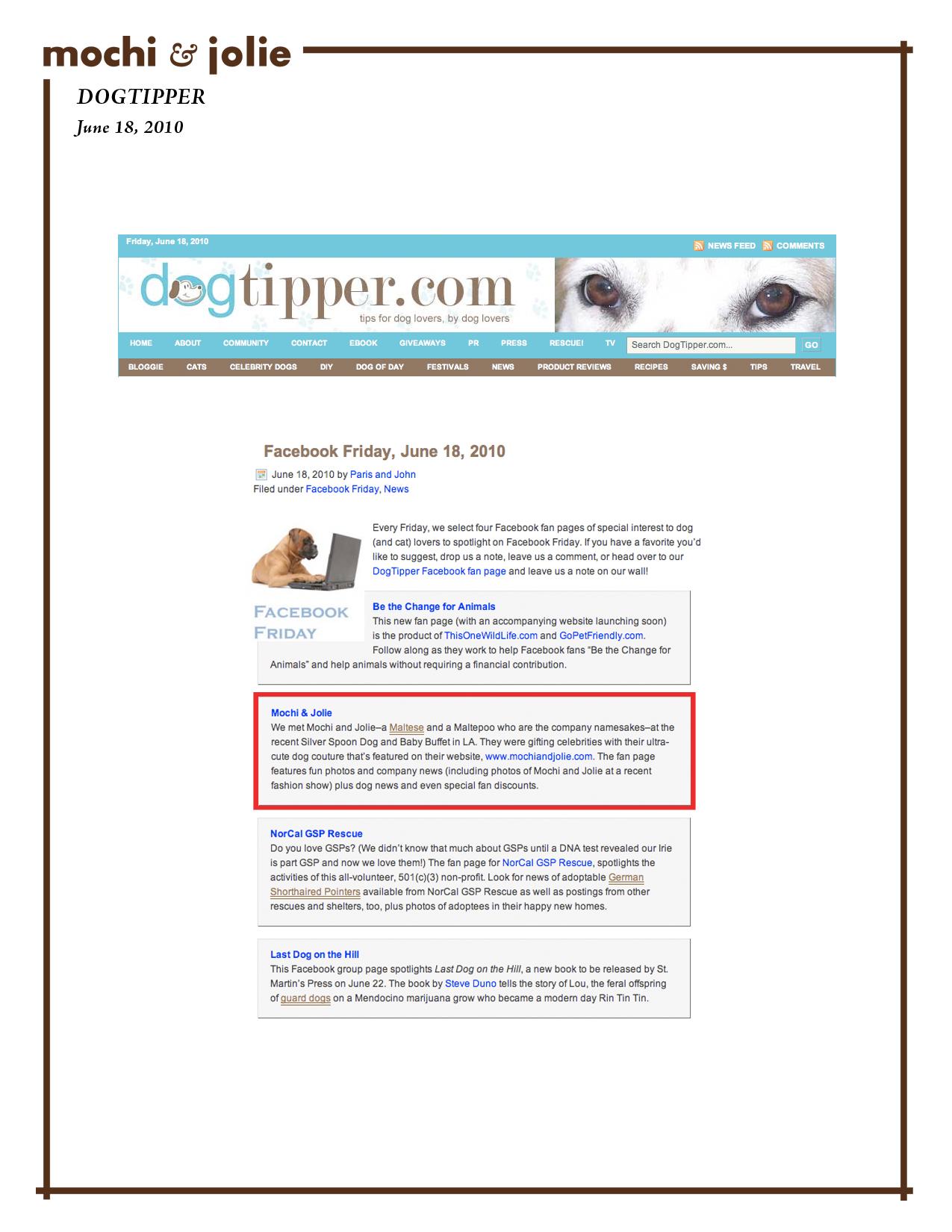 Dog Tipper (June 18, 2010)