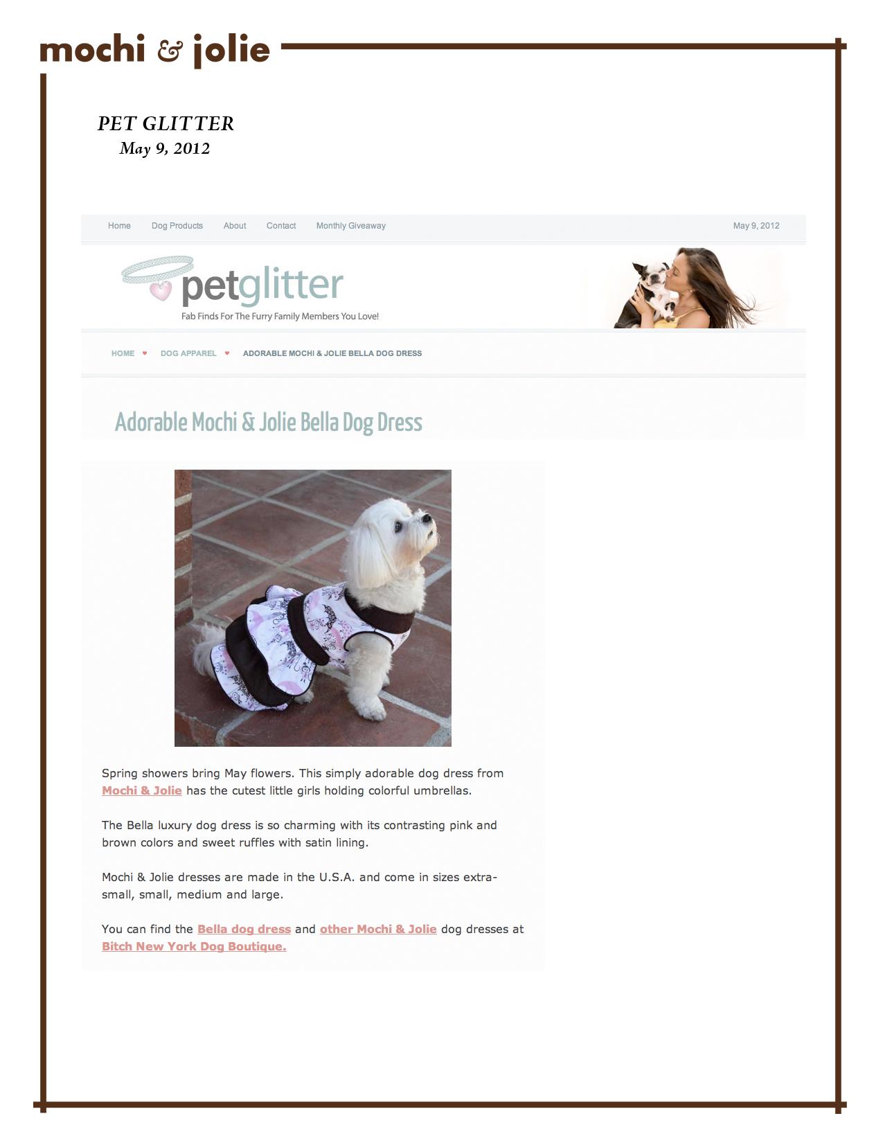 Pet Glitter (May 9, 2012)