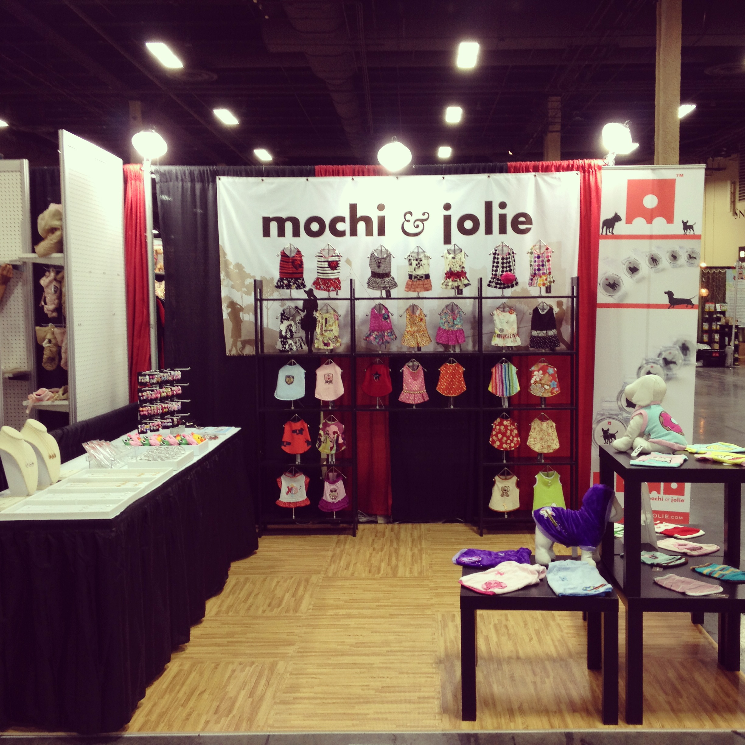 Our corner booth is ready for the visitors!
