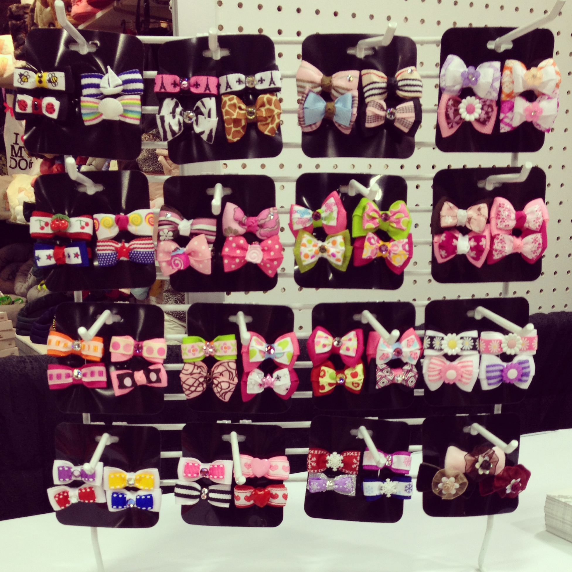 """Our own """"candy corner"""" - who can resist those beautiful bows!"""