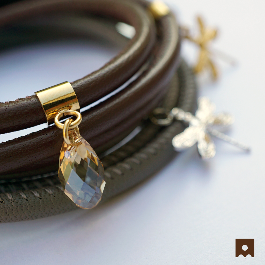 Hannah Brown & Heidi Grey Leather Bracelets