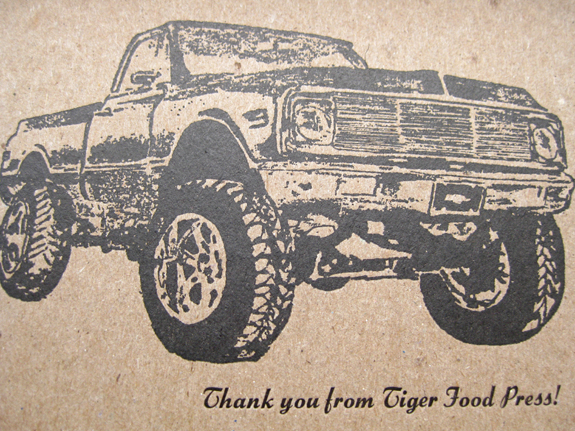 Thank You from Tiger Food Press