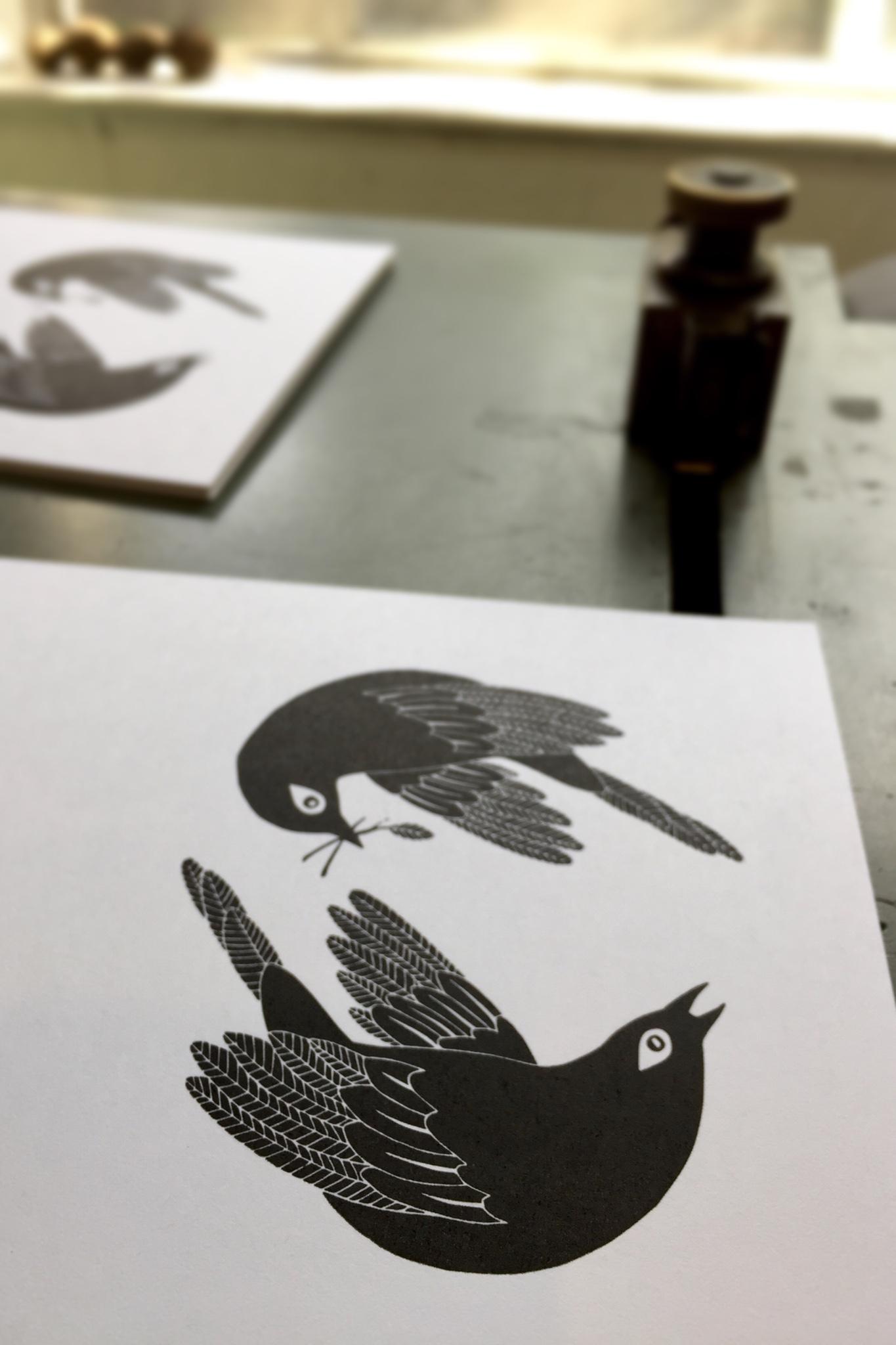 First ink color printed in black - Tiger Food Press