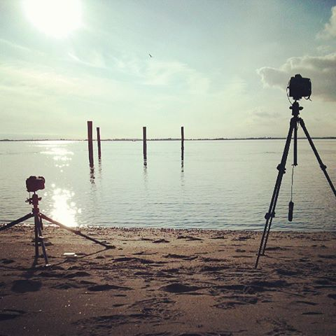 A behind-the-scenes shots of the set up. One the camera's belongs to Garvin Lee Photography, who showed me the location of this beach outside of Vancouver.