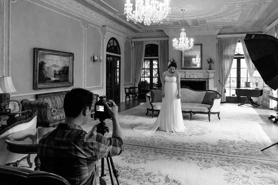 Behind the scenes of this Vancouver wedding advertising shoot at Hycroft.