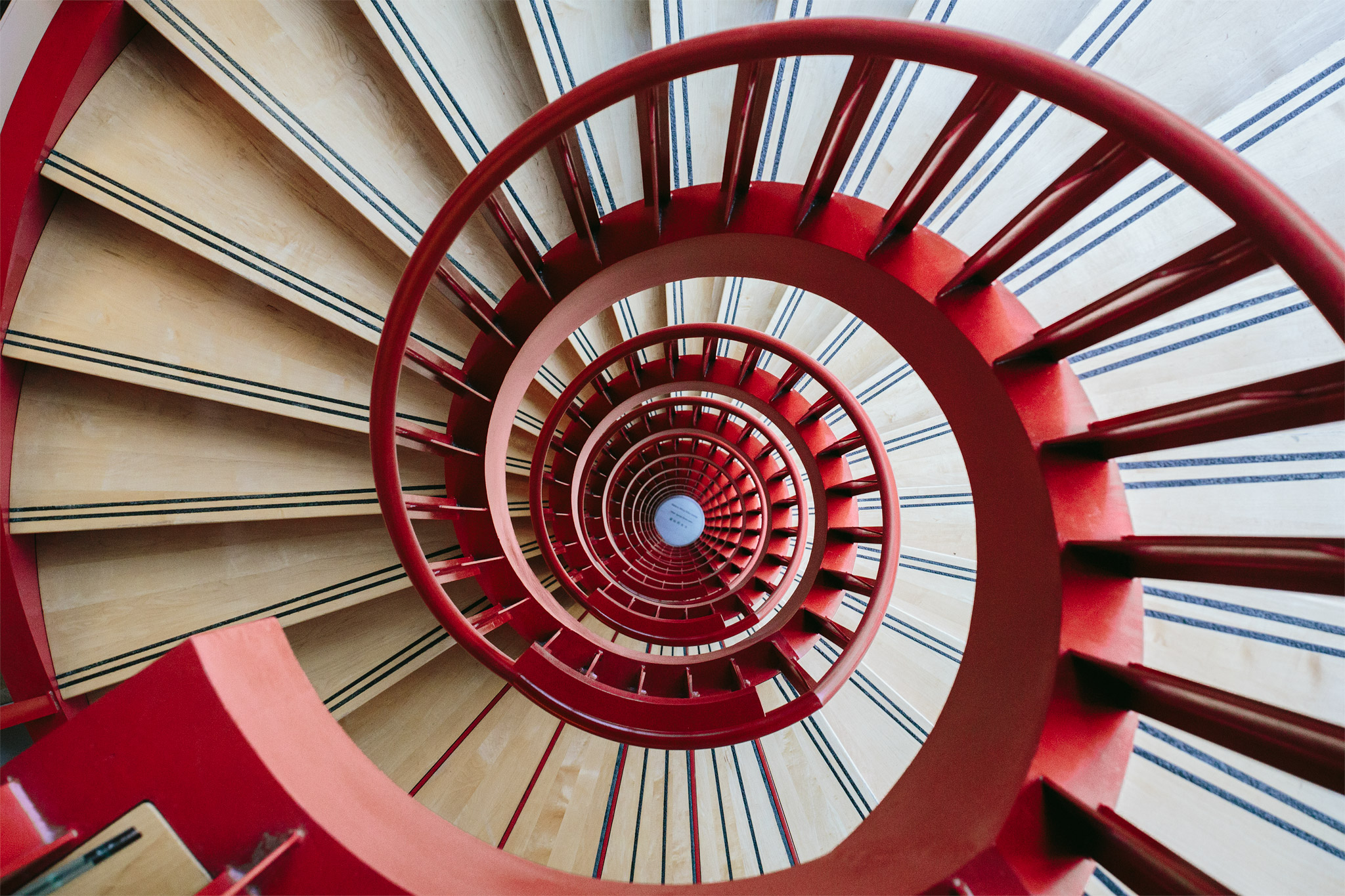 DNA Spiral Staircase located at BC Cancer Agency Research, Vancouver, B.C.