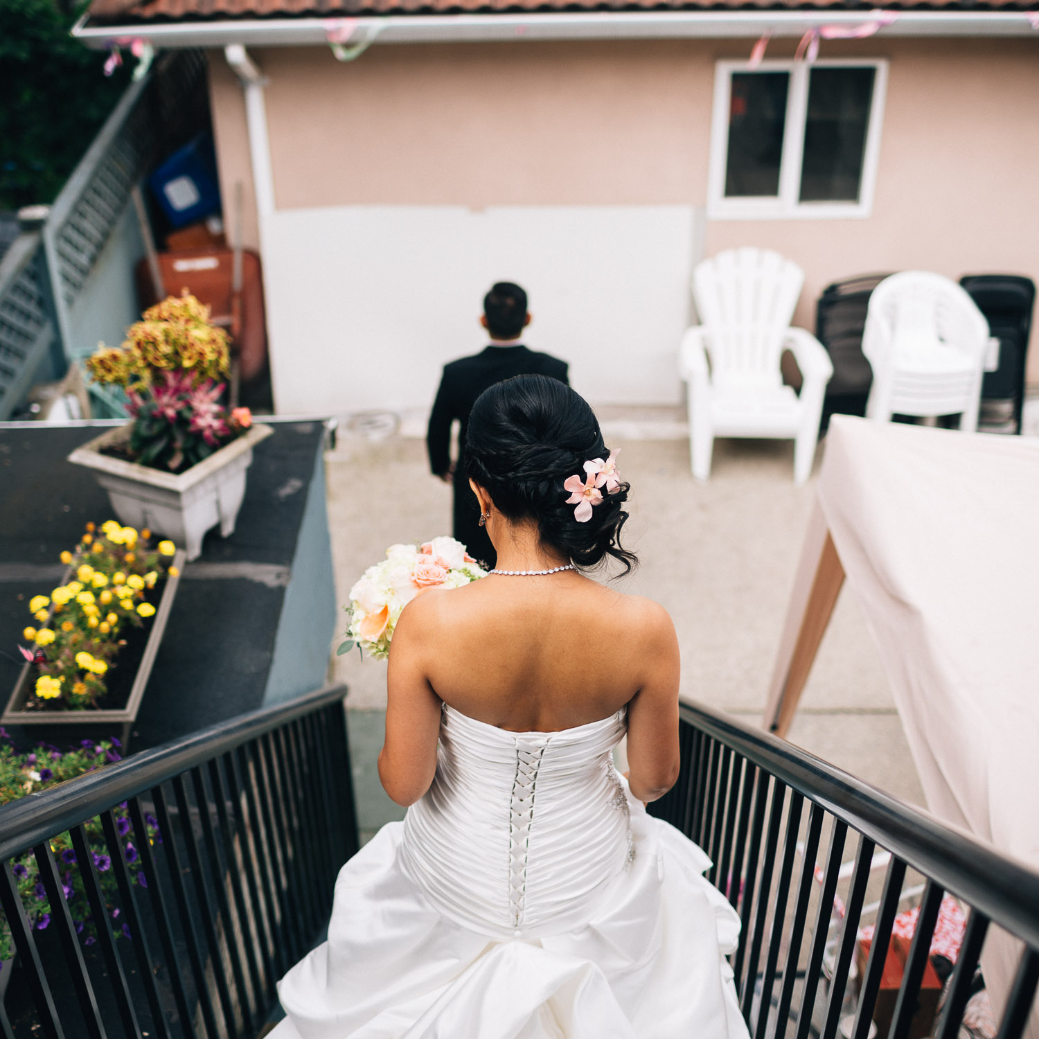 first look chinese vancouver wedding photographer