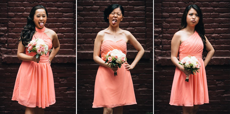 bridesmaids gastown vancouver wedding photography