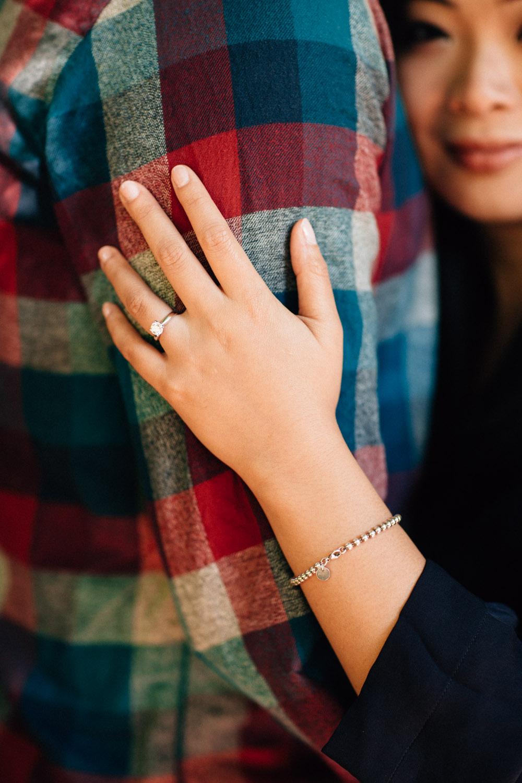 engagement ring detail vancouver portrait photographer