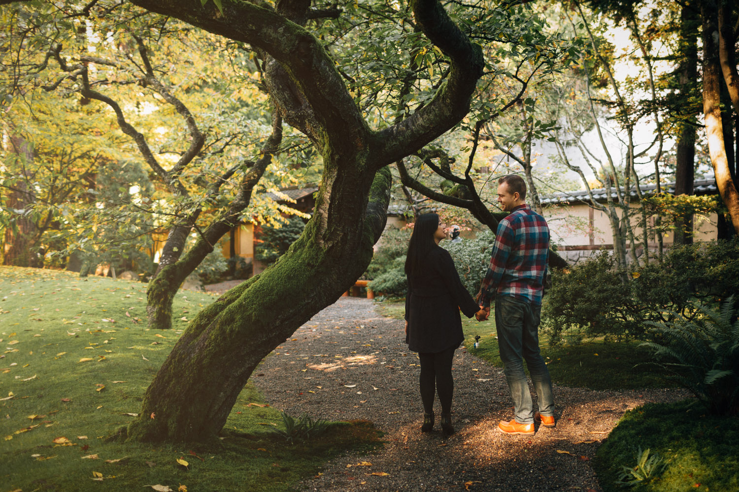 nitobe memorial garden vancouver engagement photography