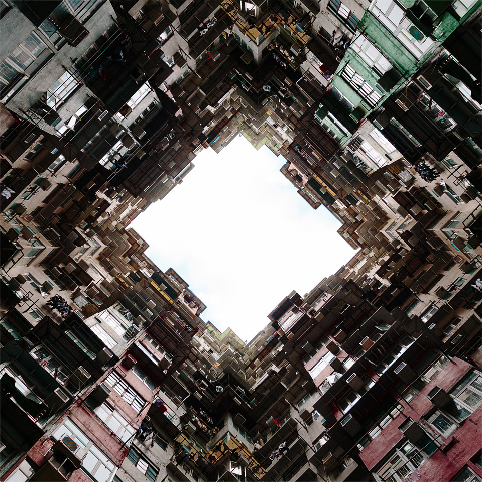 Quarry Bay Hong Kong architectural photography transformers 4 looking up