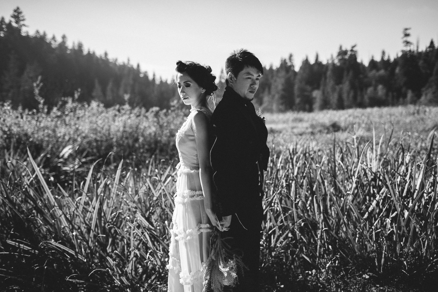vancouver wedding photographer stanley park beaver lake trail