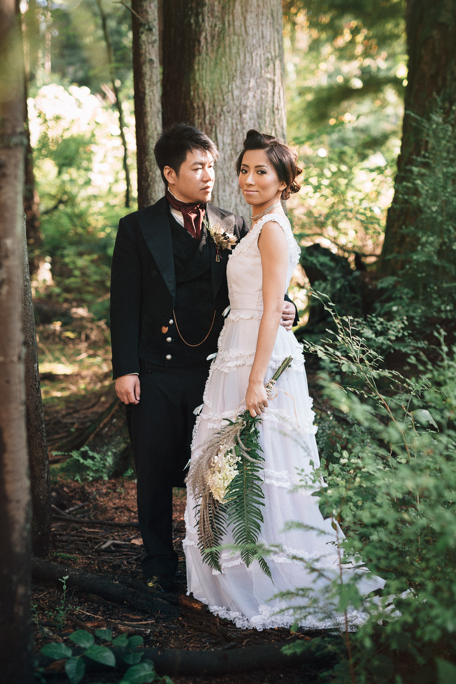 beaver lake trail stanley park wedding vintage steampunk noyo creative