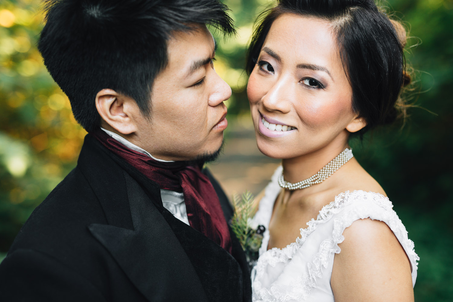 bride and groom portrait vancouver wedding photographer stanley park