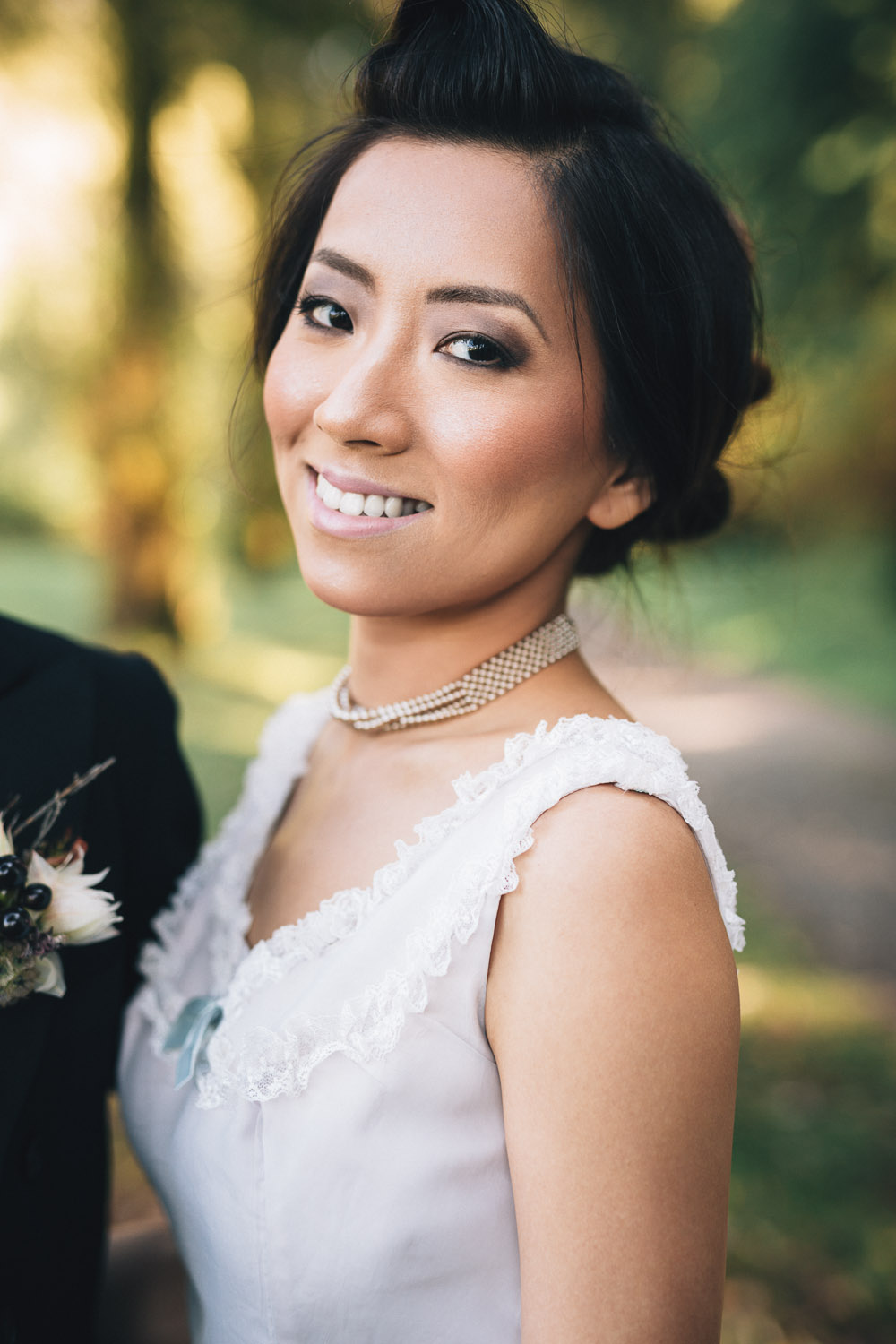 bride portrait vintage vancouver wedding photography