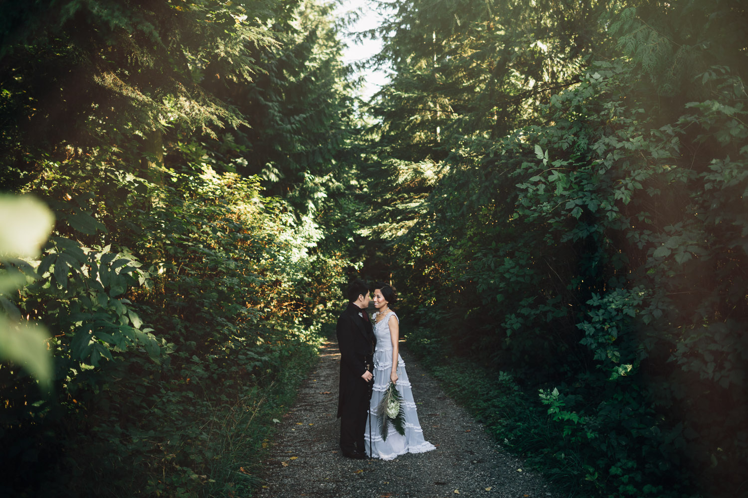 vancouver wedding photography bride and groom portrait
