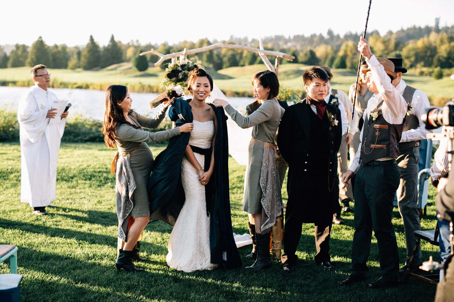 steampunk vintage riverway golf course burnaby wedding photographer