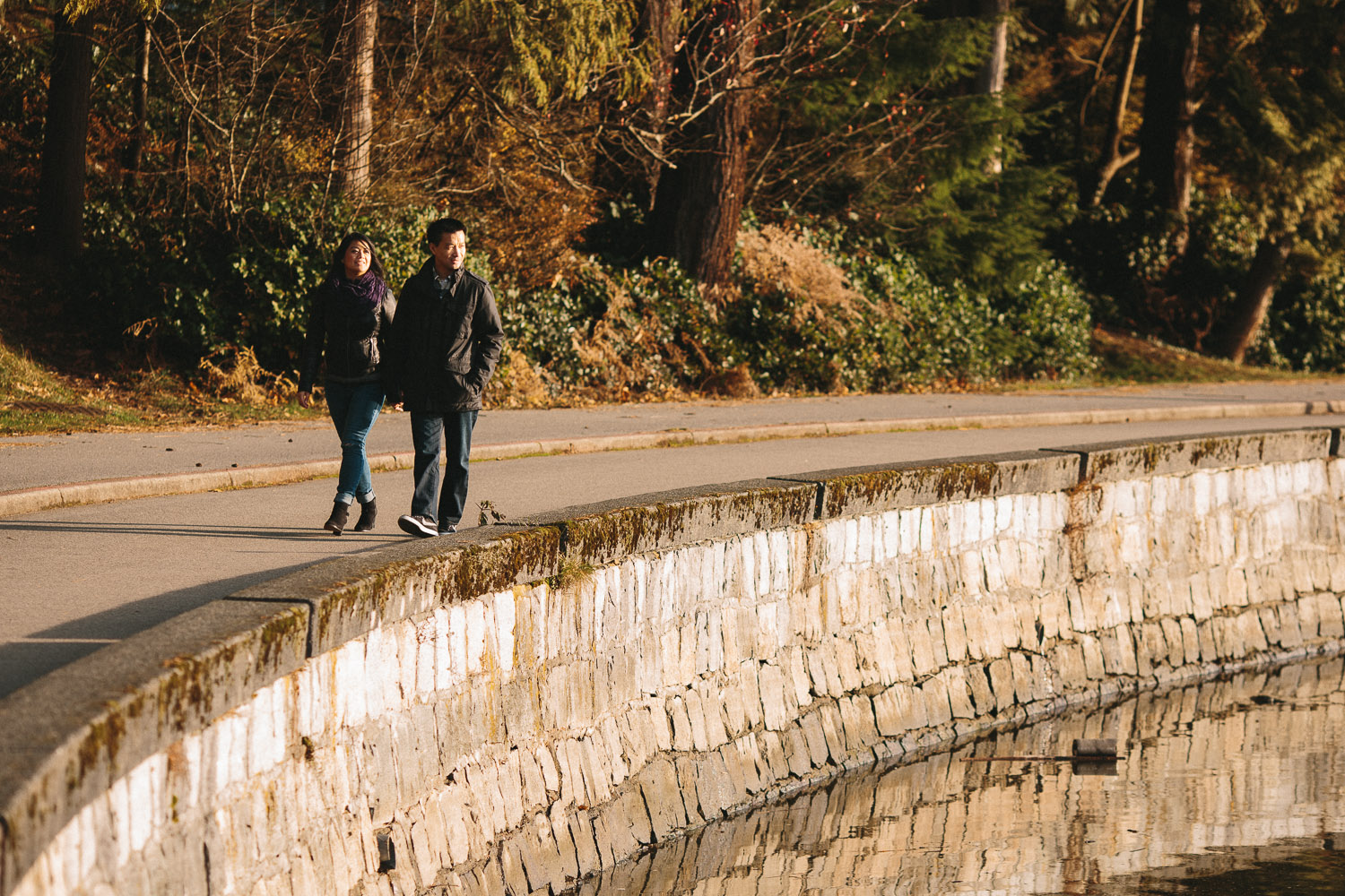 vancouver seawall engagement photography