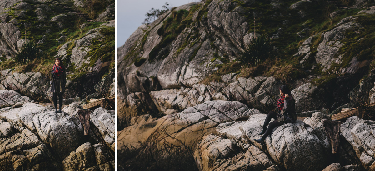 vancouver portrait photographer at whytecliff park with Tien Nguyen