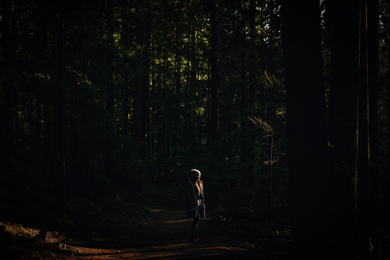 sarah lee at lynn canyon park hike trail vancouver portrait photography