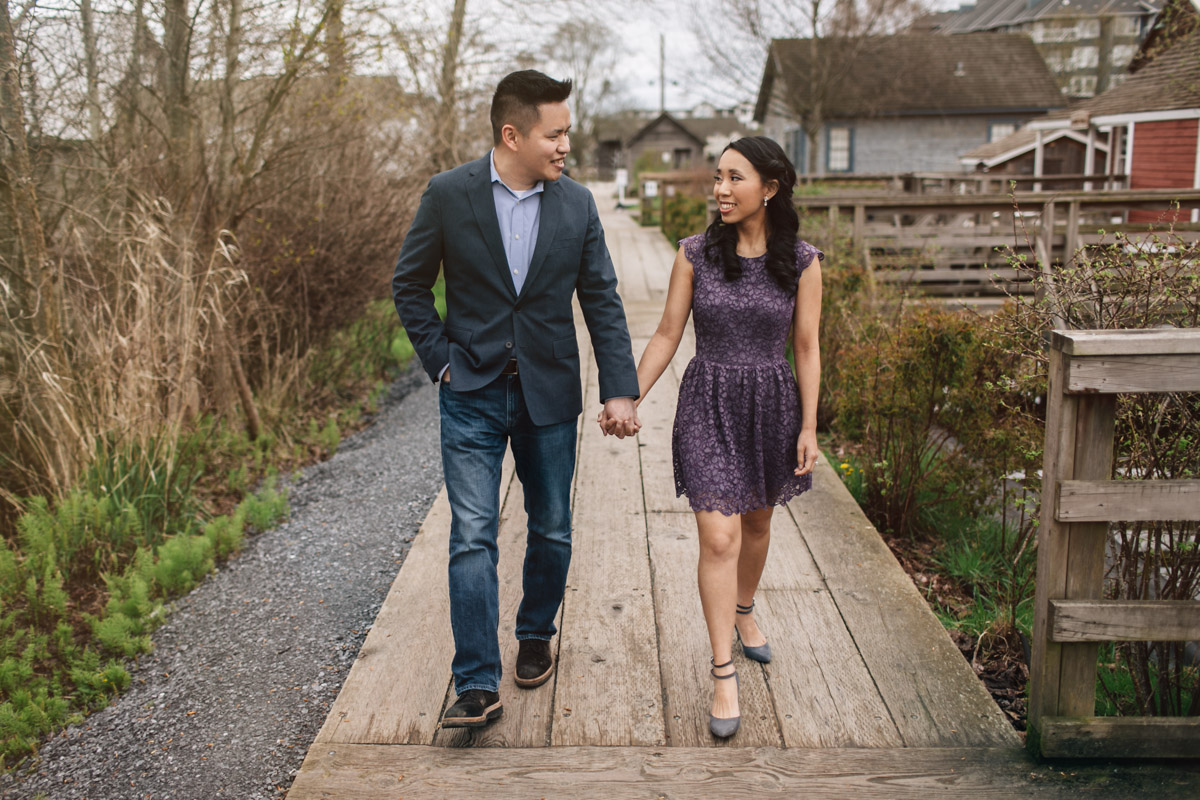 engagement photography session at britannia shipyard in richmond bc with noyo creative