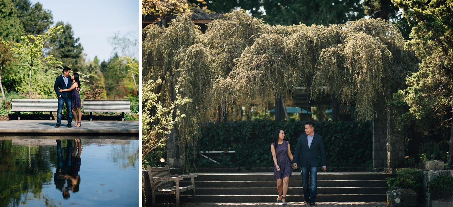 vancouver engagement photographer vandusen botanical garden