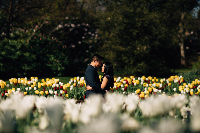 benjamin leungand dorothy yu at vandusen botanical rose garden vancouver bc