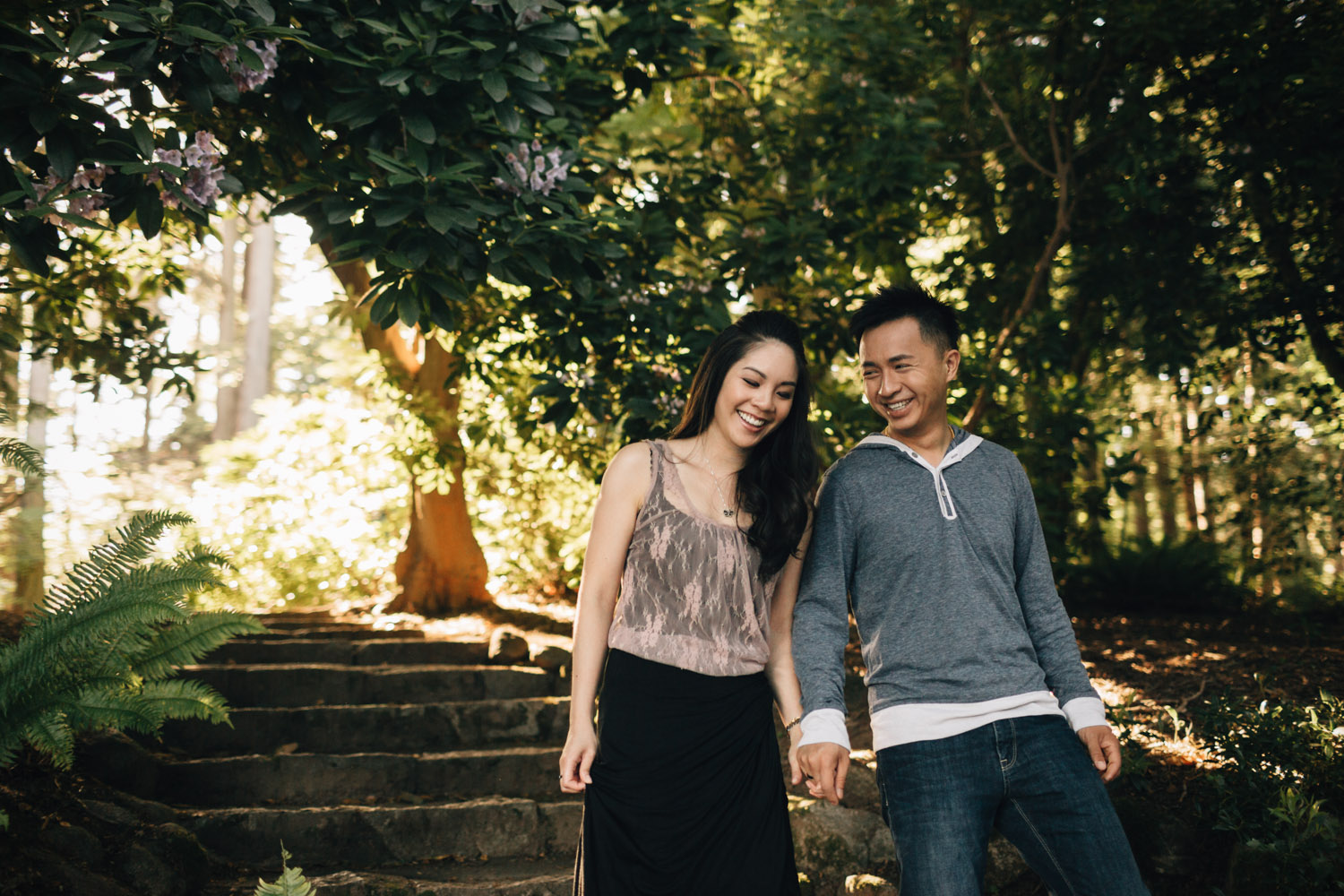 stanley park rose garden engagement photography in vancouver