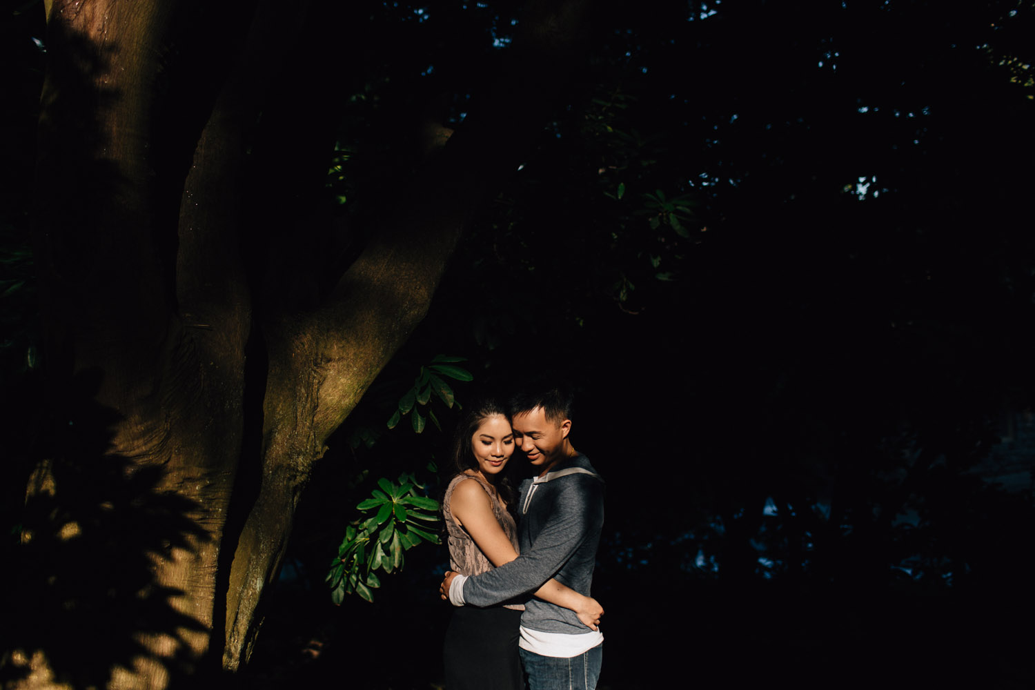stanley park engagement golden hour photography