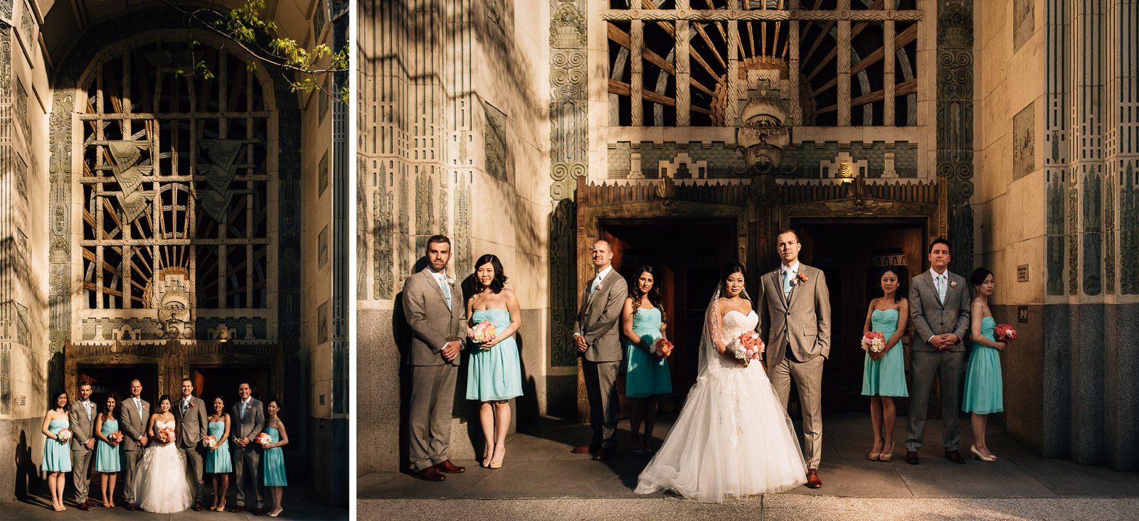 marine building vancouver wedding photography bridal party
