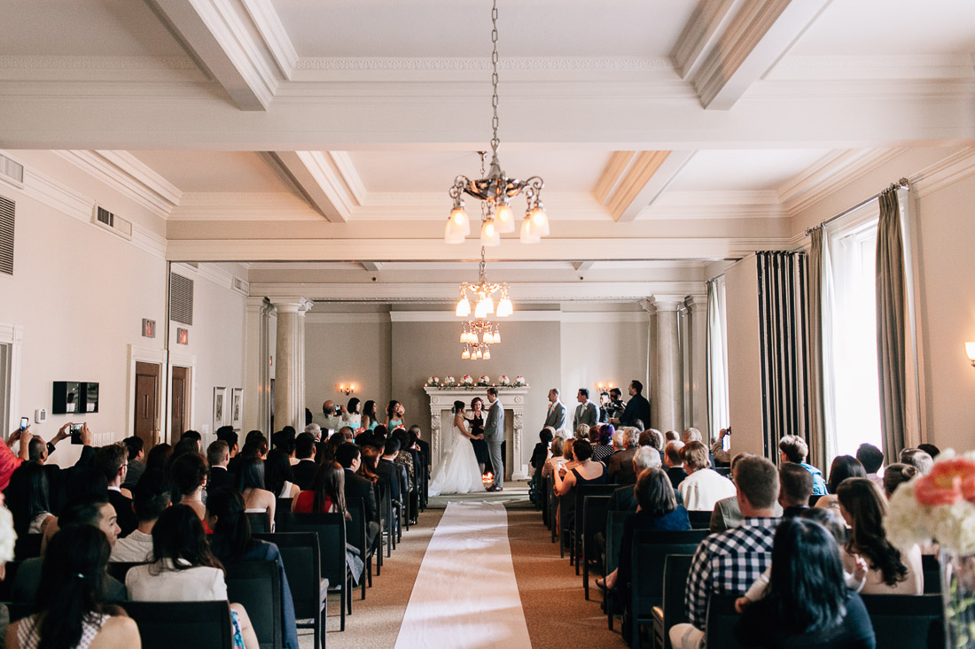 the vancouver club wedding ceremony photography
