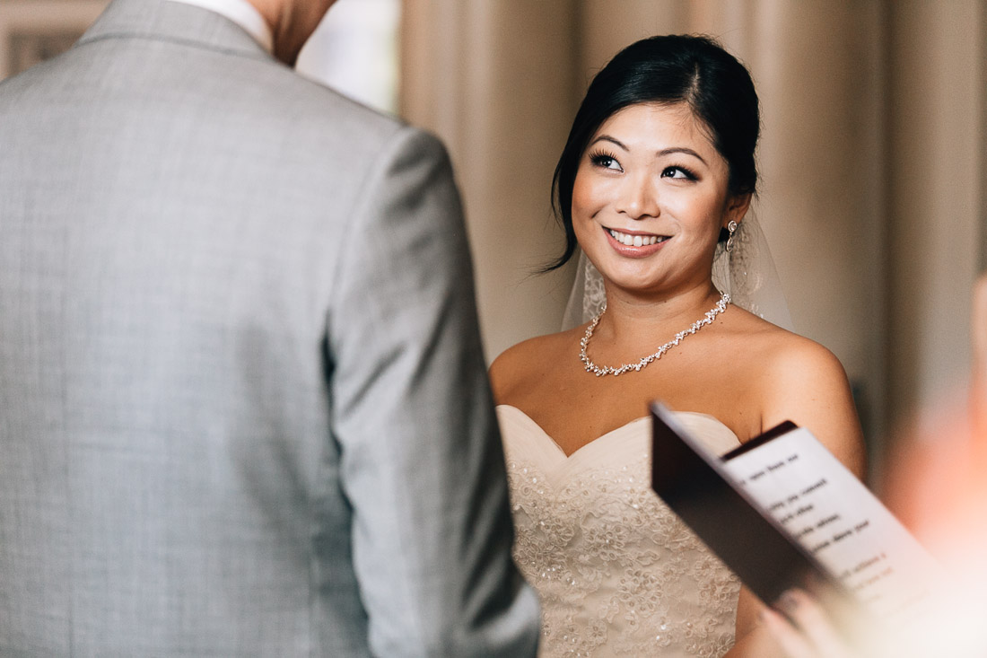 the vancouver club wedding ceremony coal harbour photography