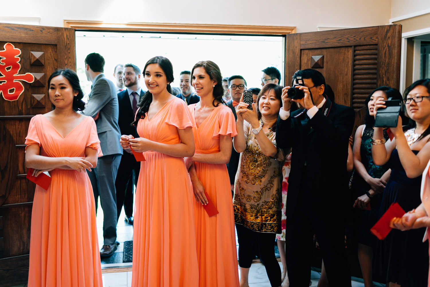 candid reactions from guests vancouver wedding photography
