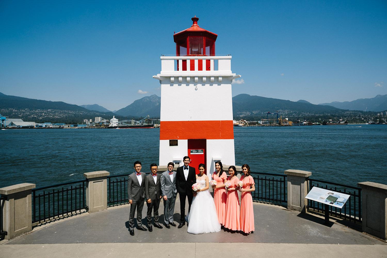 vancouver wedding photography lighthouse portrait