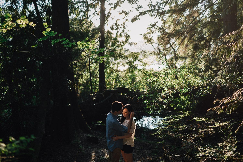 sasamat lake engagement couple in love
